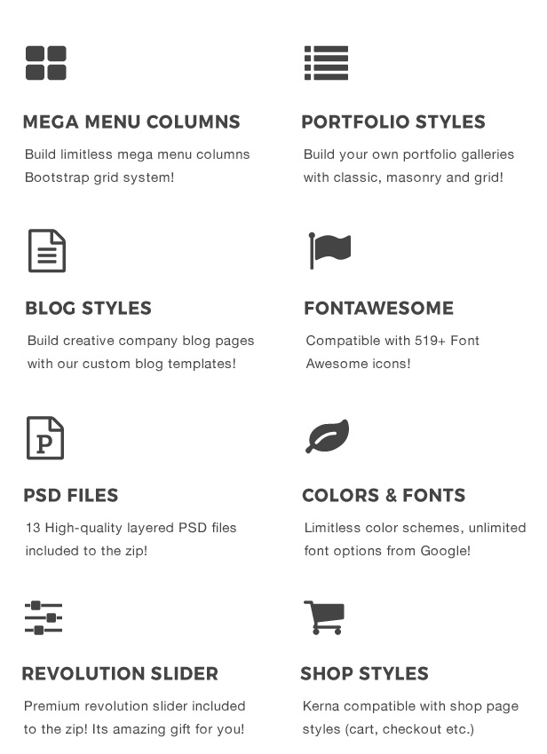 Kerna - Responsive Multi-Purpose HTML Template